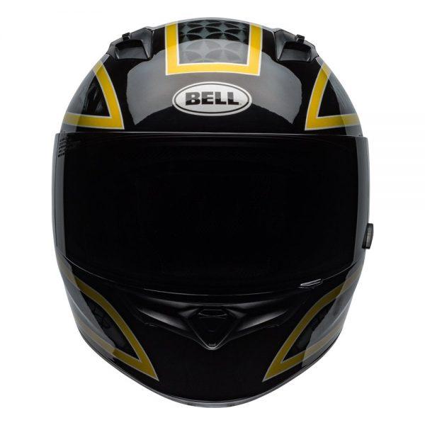 1548941751-70402600.jpg-Bell Street 2019 Qualifier STD Adult Helmet (Scorch Black/Gold Flake)