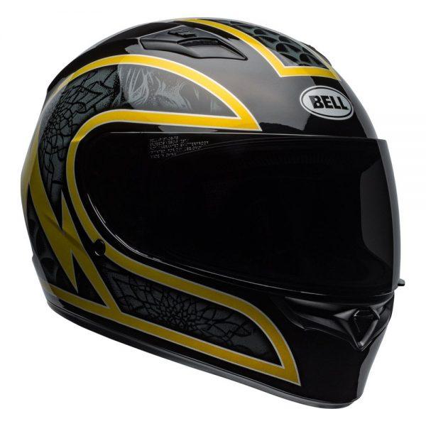 1548941753-53332900.jpg-Bell Street 2019 Qualifier STD Adult Helmet (Scorch Black/Gold Flake)