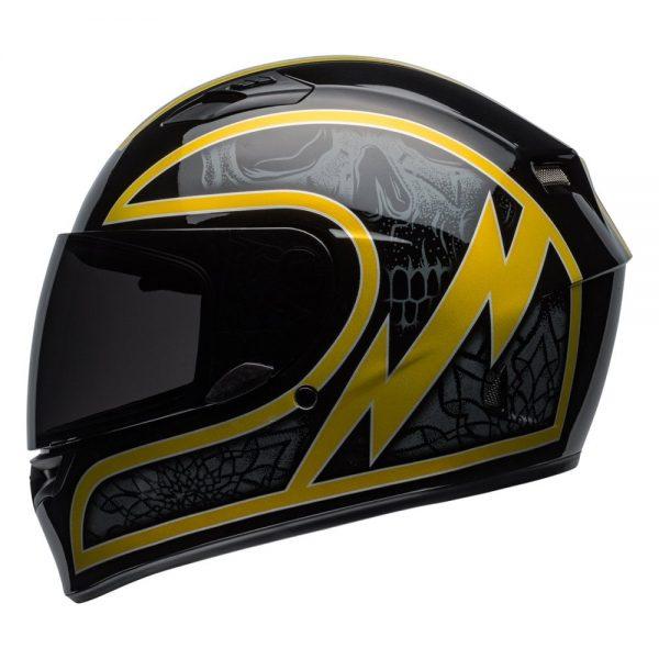 1548941757-30536000.jpg-Bell Street 2019 Qualifier STD Adult Helmet (Scorch Black/Gold Flake)