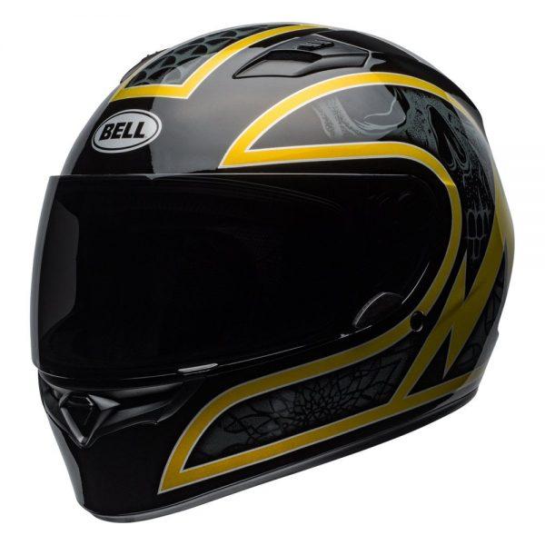 1548941759-33483400.jpg-Bell Street 2019 Qualifier STD Adult Helmet (Scorch Black/Gold Flake)