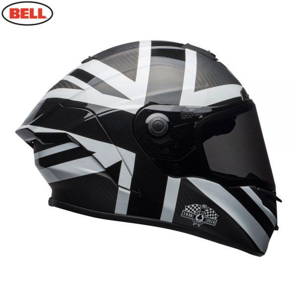 1548941895-33390800.jpg-Bell Street 2018.1 Race Star Adult Helmet (Ace Cafe Black Jack Black/White)