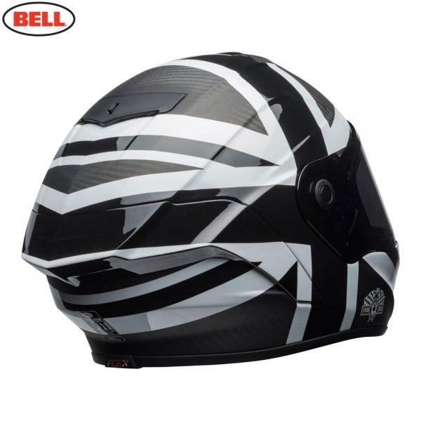 1548941911-66153200.jpg-Bell Street 2018.1 Race Star Adult Helmet (Ace Cafe Black Jack Black/White)