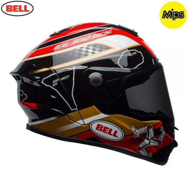 1548942113-26735600.jpg-Bell Street 2018 Star Mips Adult Helmet (Isle Of Man Pace Black/Gold)