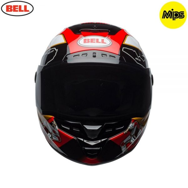 1548942116-91830200.jpg-Bell Street 2018 Star Mips Adult Helmet (Isle Of Man Pace Black/Gold)