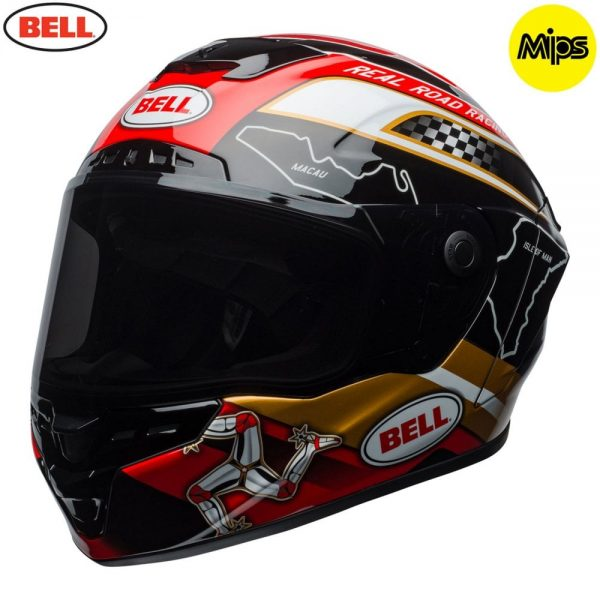 1548942118-55236900.jpg-Bell Street 2018 Star Mips Adult Helmet (Isle Of Man Pace Black/Gold)