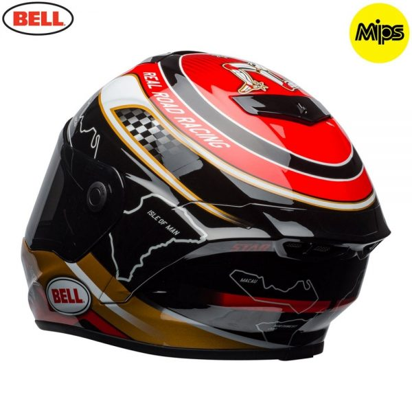 1548942122-41204800.jpg-Bell Street 2018 Star Mips Adult Helmet (Isle Of Man Pace Black/Gold)