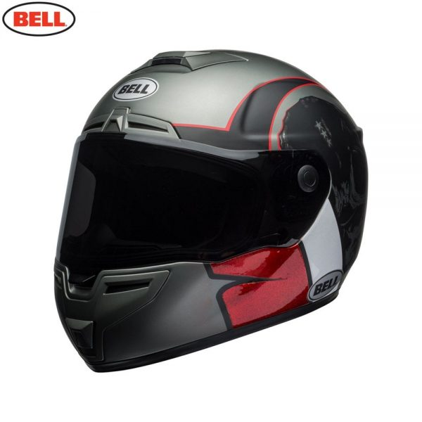 1548942185-43861900.jpg-Bell Street 2018 SRT Adult Helmet (Hart Luck Charcoal/White/Red)