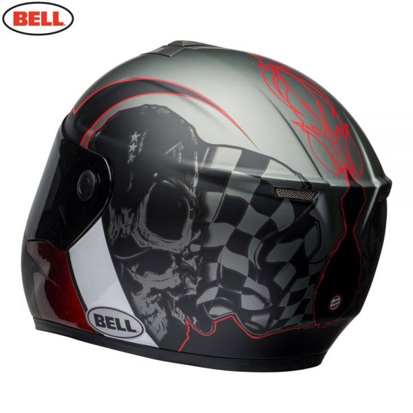 1548942189-60998400.jpg-Bell Street 2018 SRT Adult Helmet (Hart Luck Charcoal/White/Red)