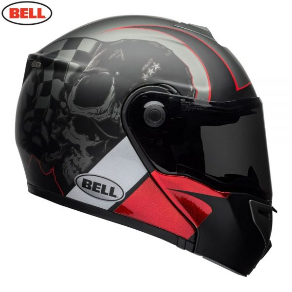 1548942287-47708200.jpg-Bell Street 2018 SRT Modular Adult Helmet (Hart Luck Charcoal/White/Red)