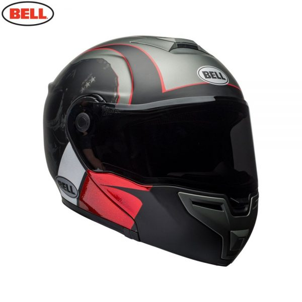 1548942289-45223700.jpg-Bell Street 2018 SRT Modular Adult Helmet (Hart Luck Charcoal/White/Red)