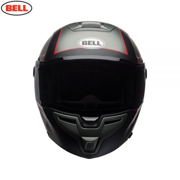 1548942291-37987400.jpg-Bell Street 2018 SRT Modular Adult Helmet (Hart Luck Charcoal/White/Red)