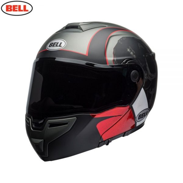 1548942293-04210600.jpg-Bell Street 2018 SRT Modular Adult Helmet (Hart Luck Charcoal/White/Red)