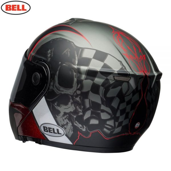1548942296-84326400.jpg-Bell Street 2018 SRT Modular Adult Helmet (Hart Luck Charcoal/White/Red)