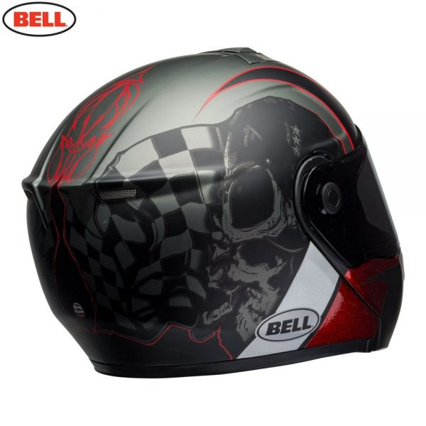 1548942300-62566200.jpg-Bell Street 2018 SRT Modular Adult Helmet (Hart Luck Charcoal/White/Red)