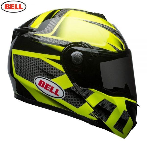 1548942323-05990100.jpg-Bell Street 2018 SRT Modular Adult Helmet (Predator Hi-Viz Green/Black)
