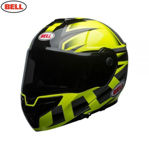 1548942330-02370100.jpg-Bell Street 2018 SRT Modular Adult Helmet (Predator Hi-Viz Green/Black)