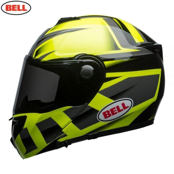 1548942332-02578500.jpg-Bell Street 2018 SRT Modular Adult Helmet (Predator Hi-Viz Green/Black)