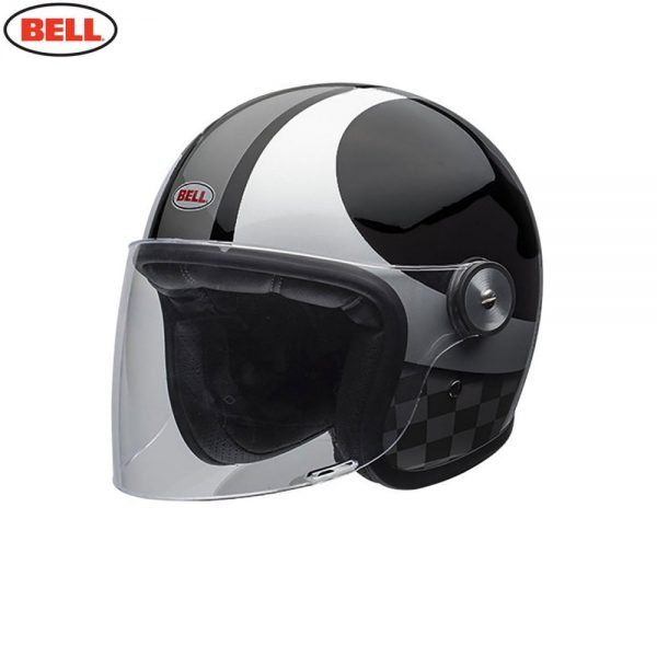 1548942407-39673500.jpg-Bell Cruiser 2018 Riot SE Adult Helmet (Checks Black/Silver)