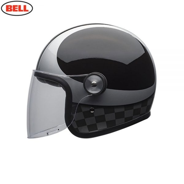 1548942408-96245800.jpg-Bell Cruiser 2018 Riot SE Adult Helmet (Checks Black/Silver)