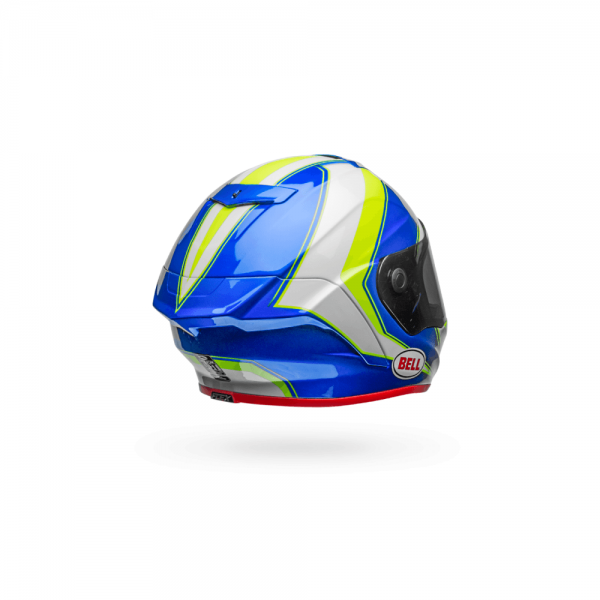 1548944829-10520500.png-Bell Street 2018 Race Star Adult Helmet (Sector White/Hi-Viz Green/Blue)