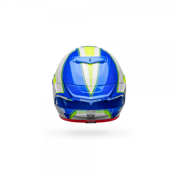 1548944846-61465100.png-Bell Street 2018 Race Star Adult Helmet (Sector White/Hi-Viz Green/Blue)