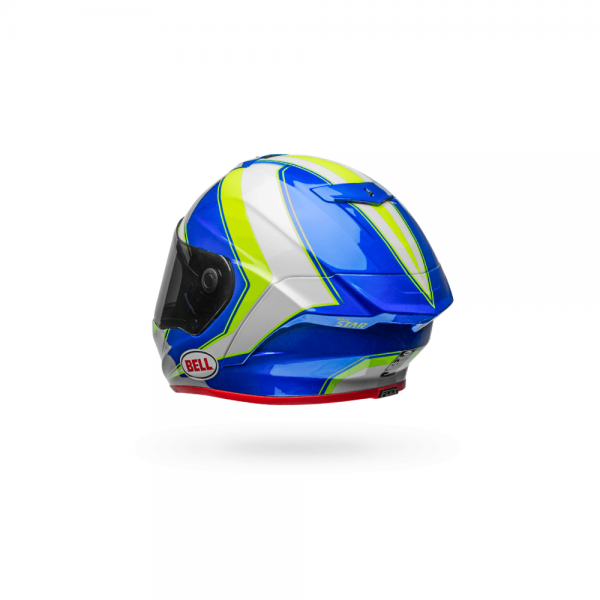 1548944865-52414100.png-Bell Street 2018 Race Star Adult Helmet (Sector White/Hi-Viz Green/Blue)