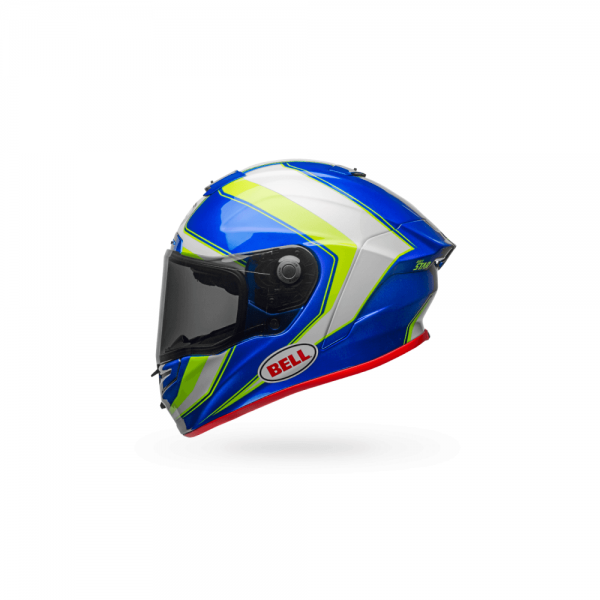 1548944884-31337700.png-Bell Street 2018 Race Star Adult Helmet (Sector White/Hi-Viz Green/Blue)