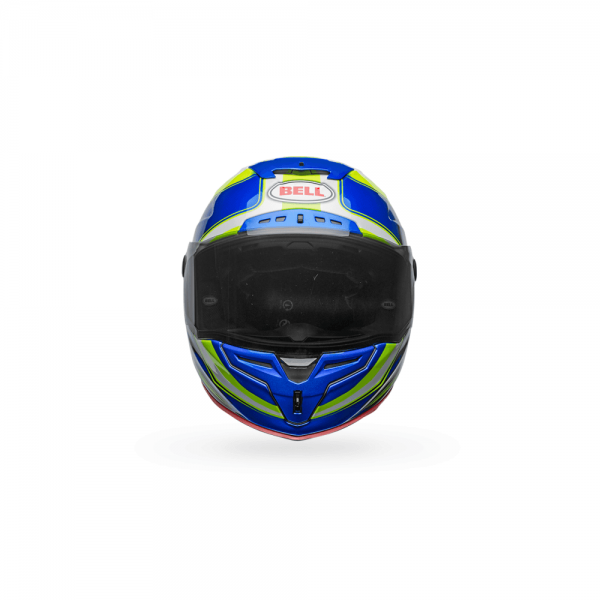 1548944914-68383700.png-Bell Street 2018 Race Star Adult Helmet (Sector White/Hi-Viz Green/Blue)