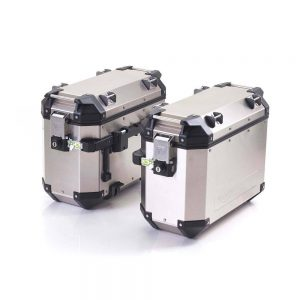 Expedition Aluminium Panniers – silver