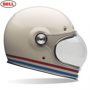 Bell 2021 Cruiser Bullitt DLX Adult Helmet (Stripes Pearl White)