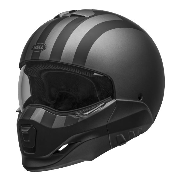 bell-broozer-street-helmet-free-ride-matte-gray-black-front-left-clear-shield__32478.jpg-Bell Cruiser 2021 Broozer Adult Helmet (Free Ride Matte Gray/Black)