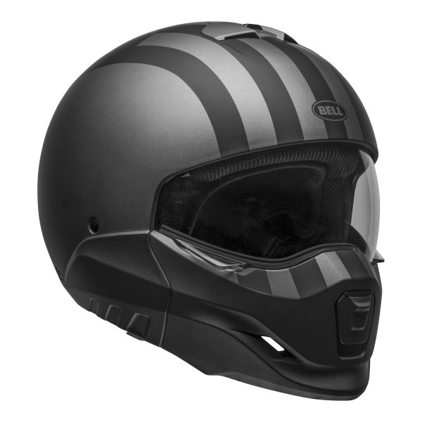 bell-broozer-street-helmet-free-ride-matte-gray-black-front-right-clear-shield__60827.jpg-Bell Cruiser 2021 Broozer Adult Helmet (Free Ride Matte Gray/Black)