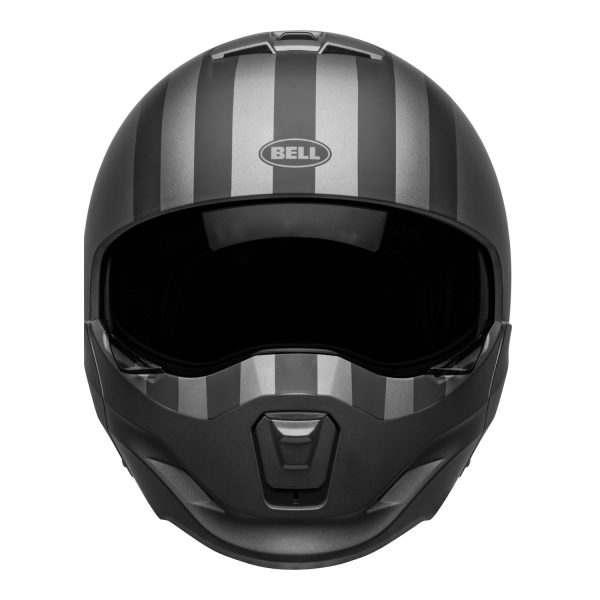 bell-broozer-street-helmet-free-ride-matte-gray-black-front__92186.jpg-Bell Cruiser 2021 Broozer Adult Helmet (Free Ride Matte Gray/Black)