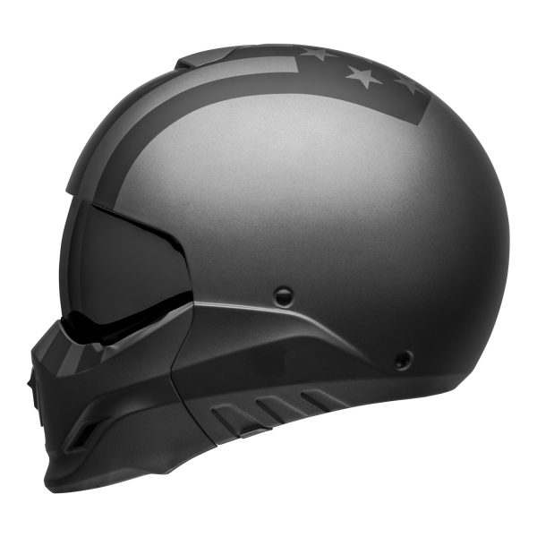 bell-broozer-street-helmet-free-ride-matte-gray-black-left__36072.jpg-Bell Cruiser 2021 Broozer Adult Helmet (Free Ride Matte Gray/Black)