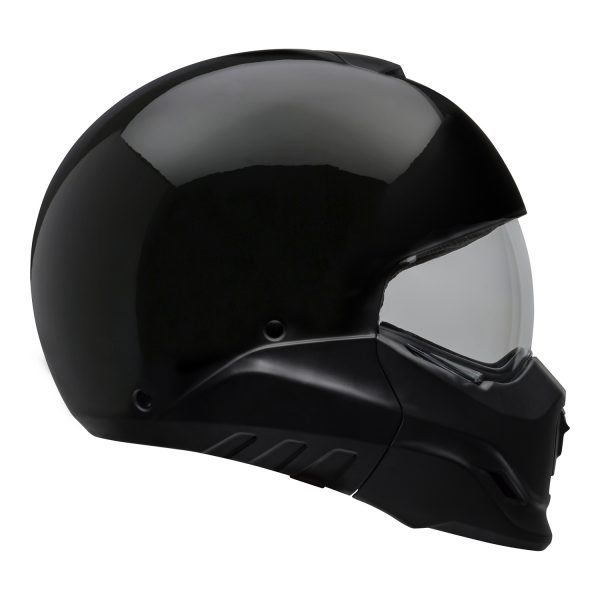 bell-broozer-street-helmet-gloss-black-right-clear-shield__55482.jpg-Bell Cruiser 2021 Broozer Adult Helmet (Solid Black)
