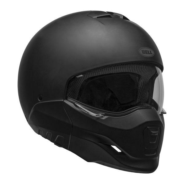 bell-broozer-street-helmet-matte-black-front-right-clear-shield__94325.jpg-Bell Cruiser 2021 Broozer Adult Helmet (Solid Matte Black)