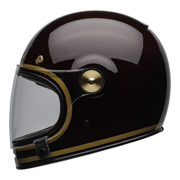 bell-bullitt-carbon-culture-helmet-transcend-gloss-candy-red-gold-clear-shield-left.jpg-Bell 2021 Cruiser Bullitt Carbon Adult Helmet (Transend Candy Red/Gold)