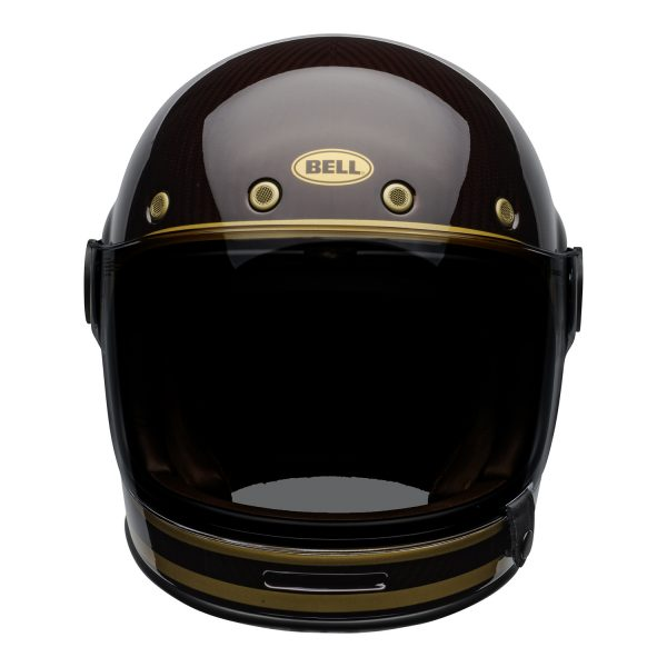 bell-bullitt-carbon-culture-helmet-transcend-gloss-candy-red-gold-front.jpg-Bell 2021 Cruiser Bullitt Carbon Adult Helmet (Transend Candy Red/Gold)