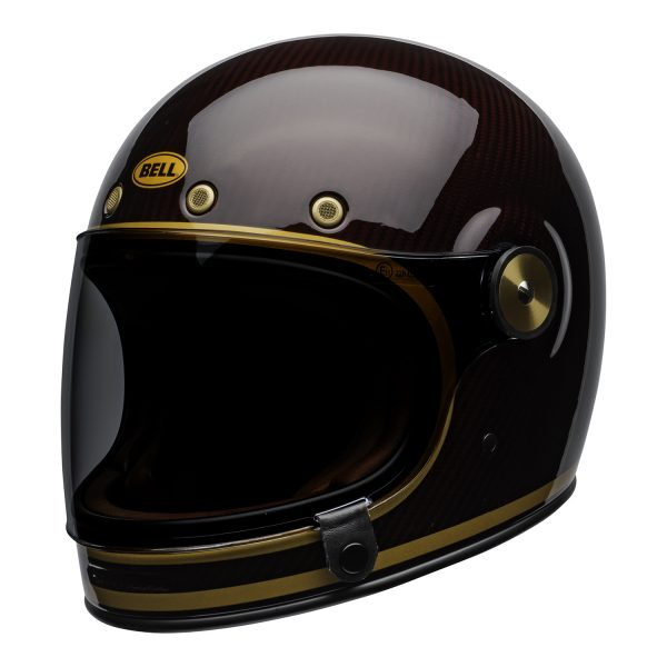 bell-bullitt-carbon-culture-helmet-transcend-gloss-candy-red-gold-front-left.jpg-Bell 2021 Cruiser Bullitt Carbon Adult Helmet (Transend Candy Red/Gold)