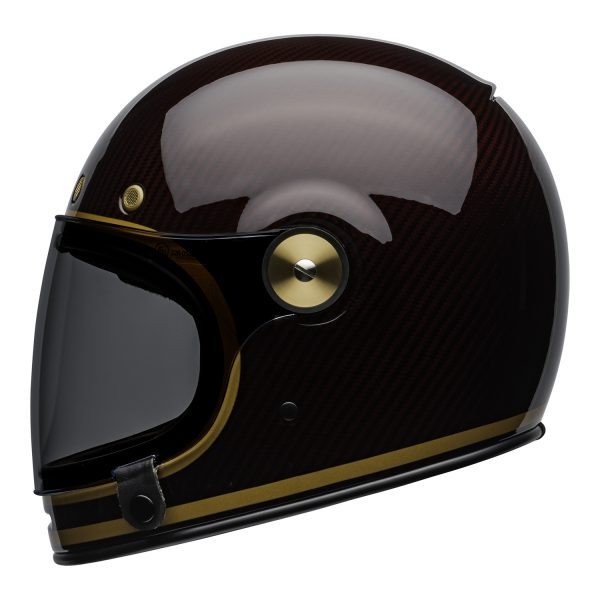 bell-bullitt-carbon-culture-helmet-transcend-gloss-candy-red-gold-left.jpg-Bell 2021 Cruiser Bullitt Carbon Adult Helmet (Transend Candy Red/Gold)