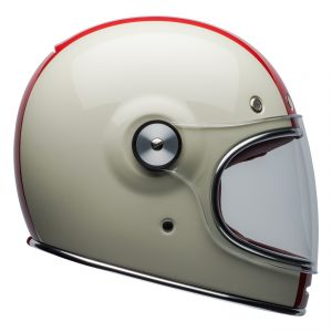 Bell 2021 Cruiser Bullitt DLX Adult Helmet (Command Vintage White/Red/Blue)