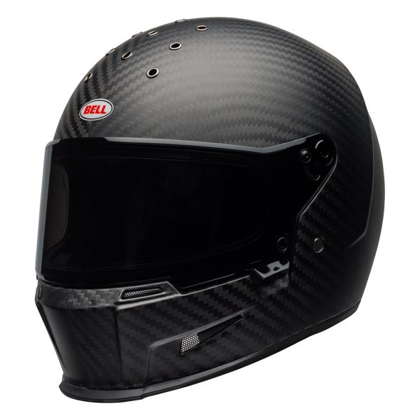 bell-eliminator-carbon-culture-helmet-matte-black-front-left__31135.jpg-Bell Cruiser 2021 Eliminator Carbon Adult Helmet (Solid Matte Black)