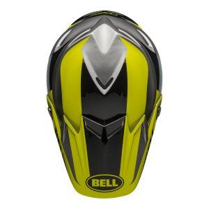 Bell MX 2021 Moto-9 Flex Adult Helmet (Division M/G Black/Hi Viz/Gray)