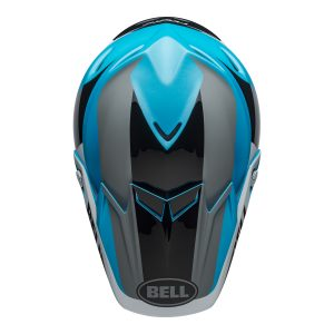 Bell MX 2021 Moto-9 Flex Adult Helmet (Division M/G White/Black/Blue)