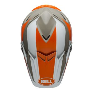 Bell MX 2021 Moto-9 Flex Adult Helmet (Division M/G White/Orange/Sand)