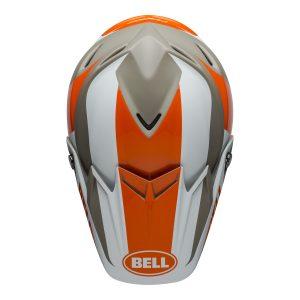 Bell MX 2021 Moto-9 Flex Adult Helmet (Division M/G White/Orange/Sand)