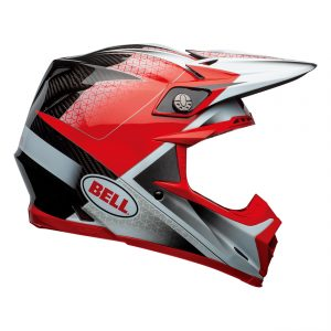 Bell MX 2021 Moto-9 Flex Adult Helmet (Hound Red/White/Black)