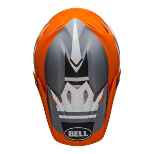 Bell MX 2021 Moto-9 Mips Adult Helmet (Prophecy Matte Orange/Black/Gray)