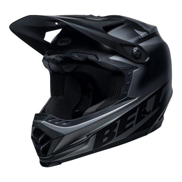 bell-moto-9-youth-mips-dirt-helmet-glory-matte-black-front-left.jpg-Bell MX 2021 Moto-9 Youth MIPS Helmet (Glory Matte Black)