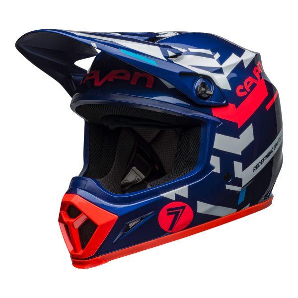 bell-mx-9-mips-dirt-helmet-seven-equalizer-gloss-blue-pink-white-front-left.jpg-Seven MX 2021 MX-9 Mips Adult Helmet (Equalizer Blue/Pink/White)